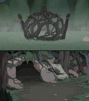 Adventure Time The Hard Easy Backgrounds by DerekHunter