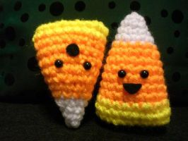 Amigurumi Candy Corn by Slowdance-Romance