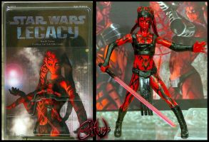 Darth Talon TwiLek Sith Lord Custom Figure by jvcustoms