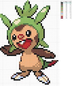 Chespin Pattern by Pansymanic