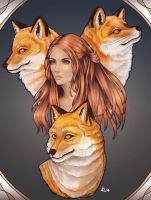 Foxes by Esthiell