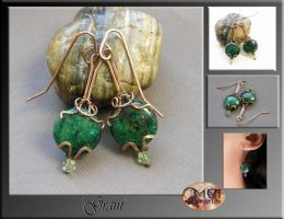 Grain- wire wrap earrings by mea00