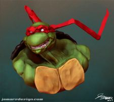 3D Raphael Pose 2 by JamarsDesign
