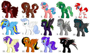 Pony Adoptables (ALL SOLD) by Yume-The-Lynx