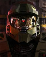 Master Chief Portrait by wiredgear