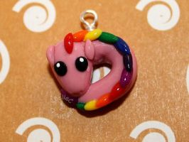 Mini Pink Rainbow Dragon by KBelleC