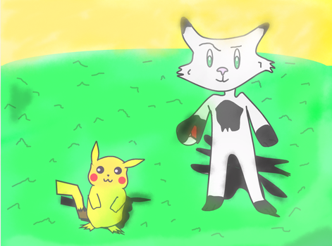 Taein and Pikachu by Lc1212