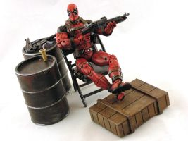Deadpool Relaxing by AnthonysCustoms