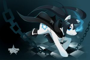 Black Rock Shooter: Pony by WineChan