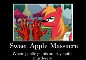 Sweet apple massacre poster by Dr-J33