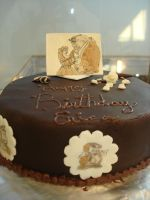Beauty and the Beast Cake by EzmasFortune