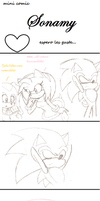 Sonamy mini comic part 1 by BLEEDFan95