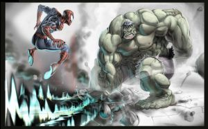 Hulk 'n' Spidey... by joverine