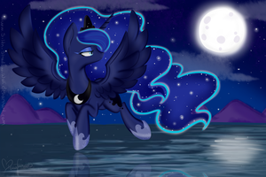 Princess Luna by Silent-Shadow-Wolf