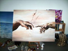 The Creation of Adam by B-Keks