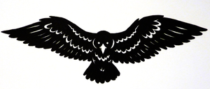 Raven In Flight Tattoo Design by TsukiTsu