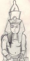 Statue of a Pharaoh by Paelfire