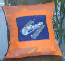 Space pillow by ItsBugArt