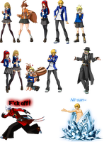Blazblue (and P4U) Sprite edits. by KennehAwesome