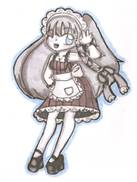 Monochromatic Maid Melody by Sakurarmarie