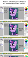 SAI Pony Base Tutorial *OLD AND OUTDATED* by TwiilightEssence