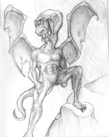 A Friendly Gargoyle by Og-the-Ingestable