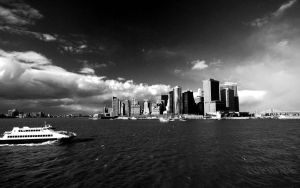 NY skyline - B-W WP by tupid
