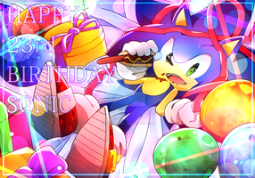 Sonic 23rd Anniversary by Baitong9194