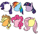 My Little Pony Sketch - Mane 6 Heads by AncientOwl