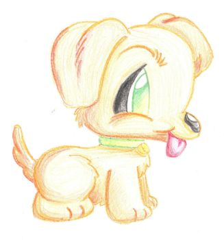 Crayon Puppy by FeliciteDesNuages