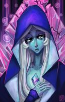 What's the Use of Feeling Blue? Blue Diamond Art by Keeterz