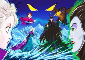 Age of Ice Elsa vs Maleficent by TheBritWriter