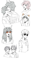 homestuck sketch requests page by Flarefyre