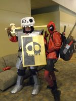 Otakon 2013 - Sir Daniel and Deadpool by mugiwaraJM