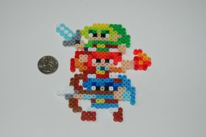 Triforce Heroes Mario Maker Sprite by evilpika