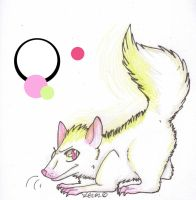 Glo The Albino Skunk .:Closed:. by wightravenadoptables