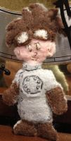 Karen's Sewn Lil' Ray on Birthday 2013 by Puppetcancer