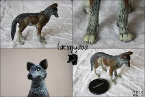 Sculpture - European Wolf by Tarunyada