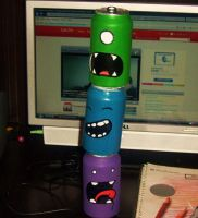Soda Can Totem Pole by The-Squid-Is-In