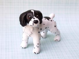 Spaniel dog sculpture commission by SculpyPups