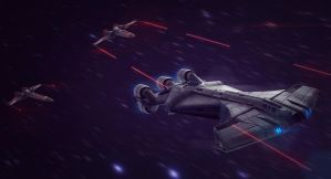 Star Wars Pursuit 3D Commission by AdamKop