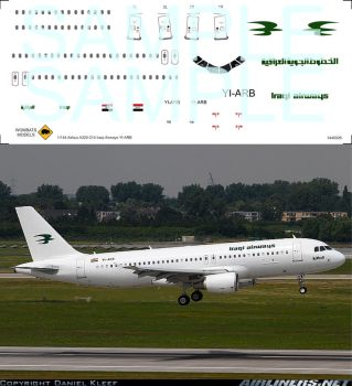 1/144 Airbus A320-214 Iraqi Airlinse YI-ARB by WombatsModels