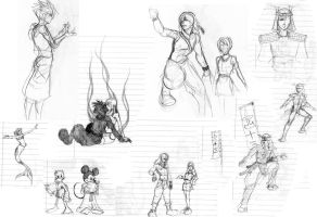 KH sketches - various by alyssafew