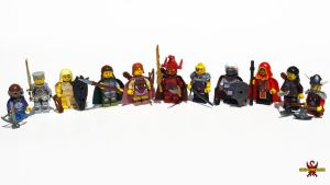 LEGO Baldur's Gate II Hero Minifigs by Saber-Scorpion