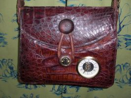 front shot alligator bag by myfairygodmother