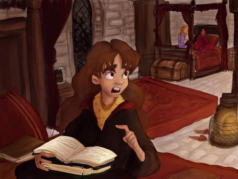 Young Hermione by Prydester