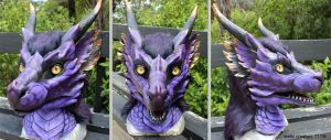 Purple dragon head by zarathus