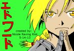 Edward Elric (Colored) by nicoleravingriot