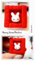 Bunny Frame Pendant by ChocoAng3l