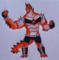 Humungousaur Mad Punk Ben 10000 by Kamran10000